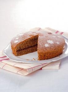 La torta di grano saraceno con confettura di lamponi