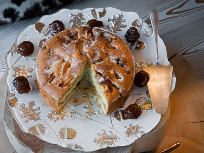 torta di mele ai marron glace con panna ricetta