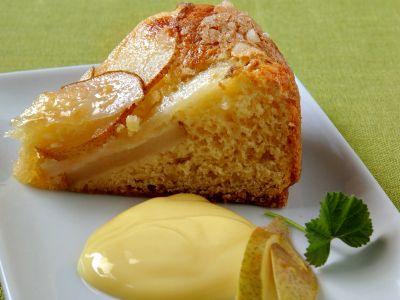 torta di pere con crema allo zenzero
