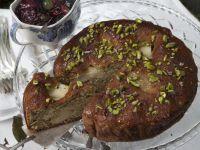 torta di pere e pistacchi all'uva Sale&Pepe ricetta