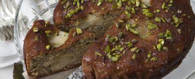 torta di pere e pistacchi all'uva ricetta
