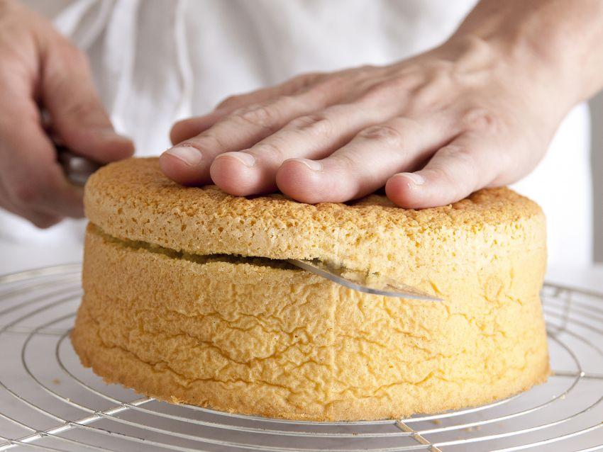 torta farcita con castagne e cioccolato step