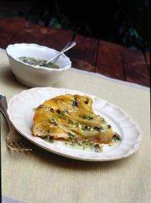 Torta rovesciata di insalata belga e pistacchi