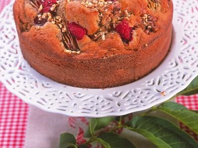 torta-speziata-pere-e-lamponi ricetta