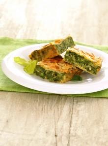 La torta verde con mandorle croccanti