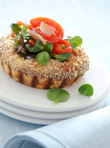 I tortini con misticanza e peperoni