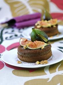 I tortini di cioccolato con noci e zenzero
