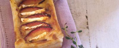 tortino con prugne e brie al miele di acacia ricetta