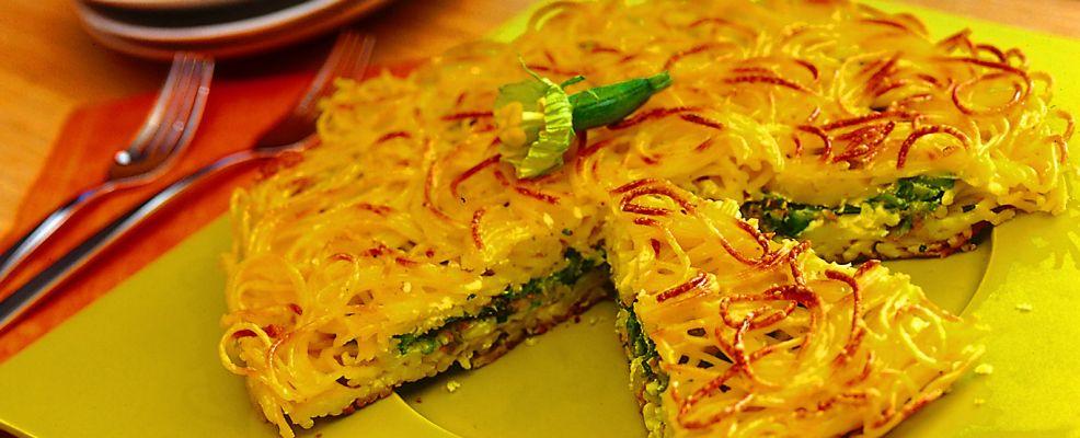tortino di spaghetti e zucchine ricetta Sale&Pepe