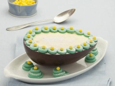 uova di cioccolato farcite con la bavarese ricetta