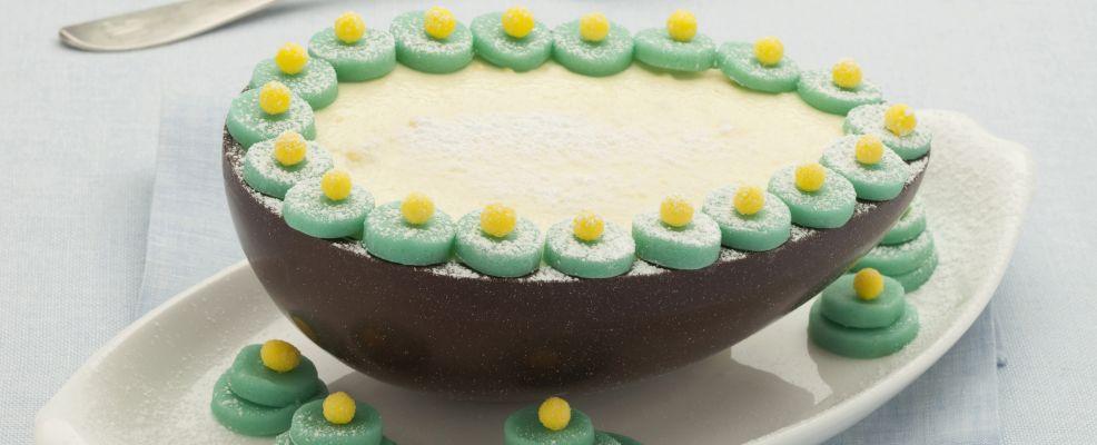 uova di cioccolato farcite con la bavarese Sale&Pepe ricetta