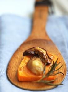 Zucca e porcini al rosmarino