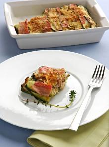 Zucchine con bacon e pecorino