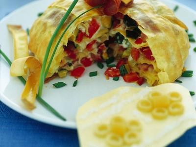 zuccotto-di-lasagnette-con-verdure