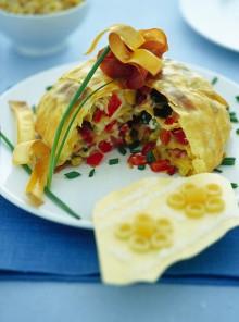 Lo zuccotto di lasagnette con verdure