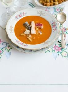 La zuppa alla certosina con filetti di pesce