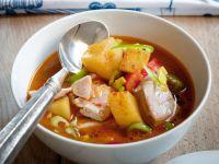 zuppa basca di tonno e patate Sale&Pepe ricetta