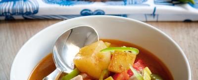 zuppa basca di tonno e patate