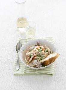 Zuppa di crostacei e seppie alla bosana