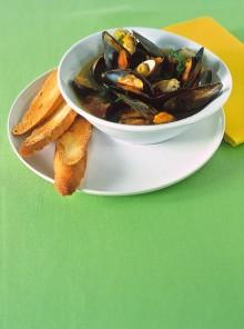 La zuppetta di molluschi al brodetto piccante