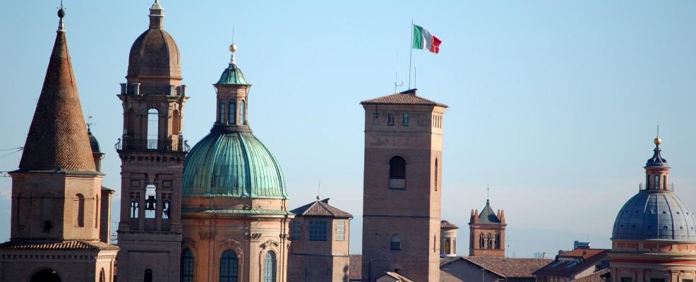Paesaggio dai tetti di Reggio Emilia