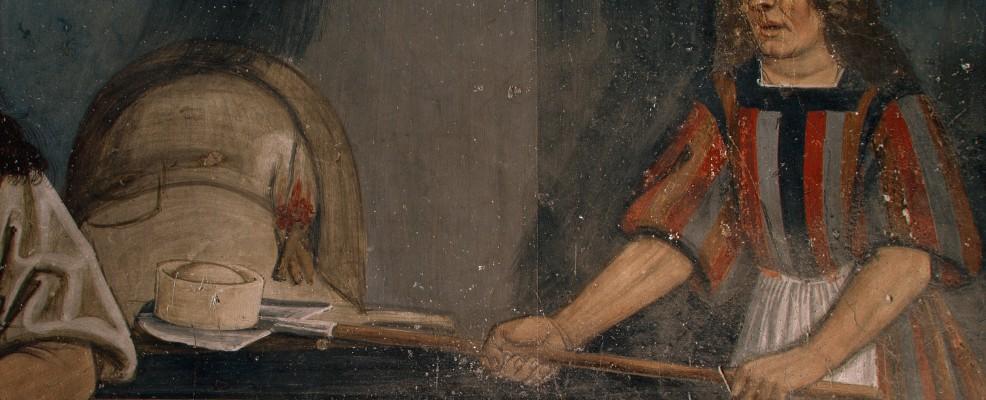 Castello di Issogne, la prima rappresentazione pittorica di una forma di fontina (Foto © Alfredo Dagli Orti /The Art Archive /Corbis)