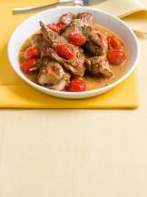 coniglio in umido con pomodorini e finocchietto Sale&Pepe