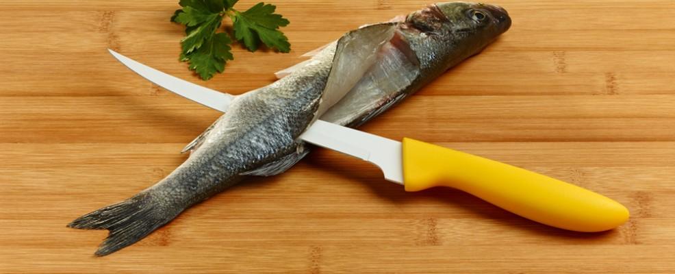 Coltello professionale per sfilettare il pesce