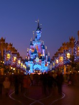 Main Street and Sleeping Beauty Castle at Disneyland Paris