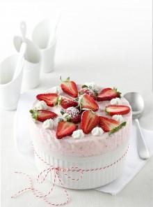 Soufflè gelato soffice, alle fragole
