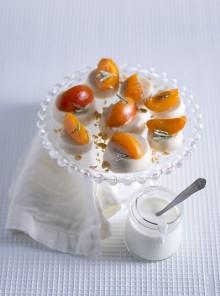 Tartellette di arachidi con albicocche al rosmarino