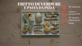 Il fritto croccante di verdure e pasta di pizza