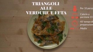 I triangoli alle verdure e feta