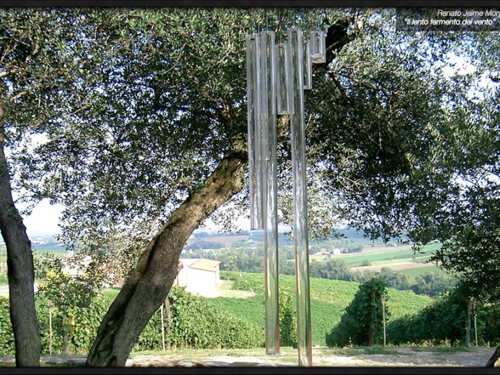Torre Fornello - Il Lento Fermento del Vento, scultura di Renato Jaime Morganti
