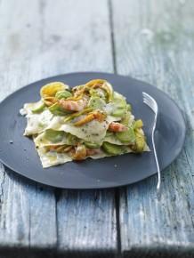 Lasagnetta alle zucchine con besciamella al basilico 1