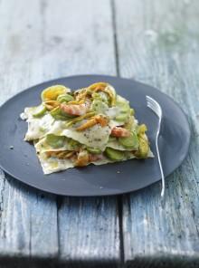 Lasagnetta alle zucchine con besciamella al basilico