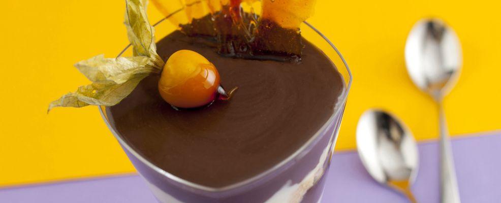 Panna cotta al cioccolato e menta 1
