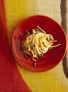 Spaghetti alla carbonara vegetariana