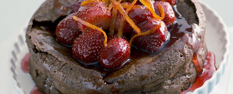 Torta di cioccolato alle arance caramellate