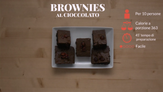 I brownies al cioccolato