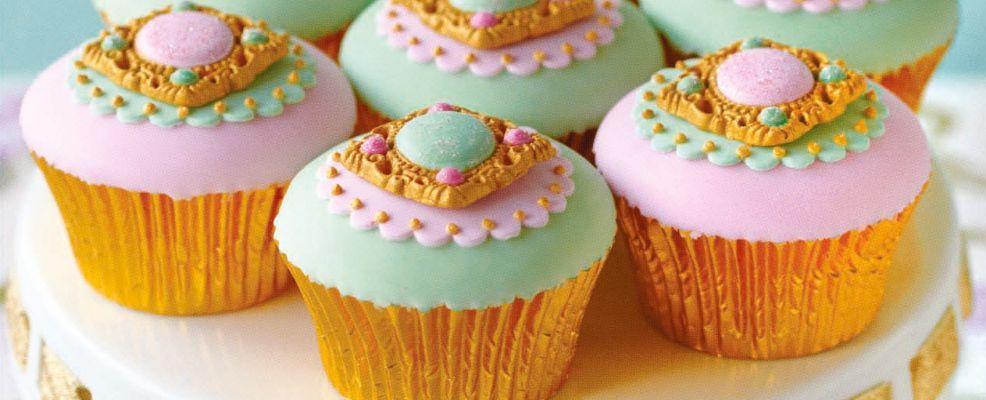 Cupcake con i medaglioni