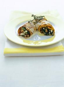 I cannelloni con farcia di spinaci, noci e speck