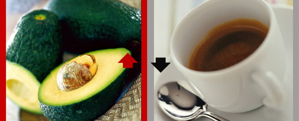 SI all'avocado. NO al caffè