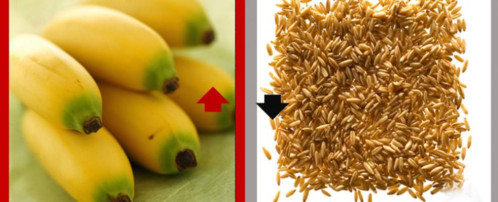 SI alle banane. NO alla farina d'avena