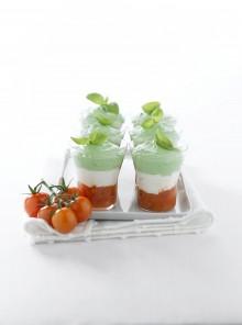 Dadolata di pomodori con 2 ricotte
