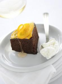 La torta di cioccolato all'arancia