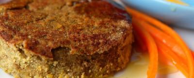 Hamburger lenticchie salsa gialla