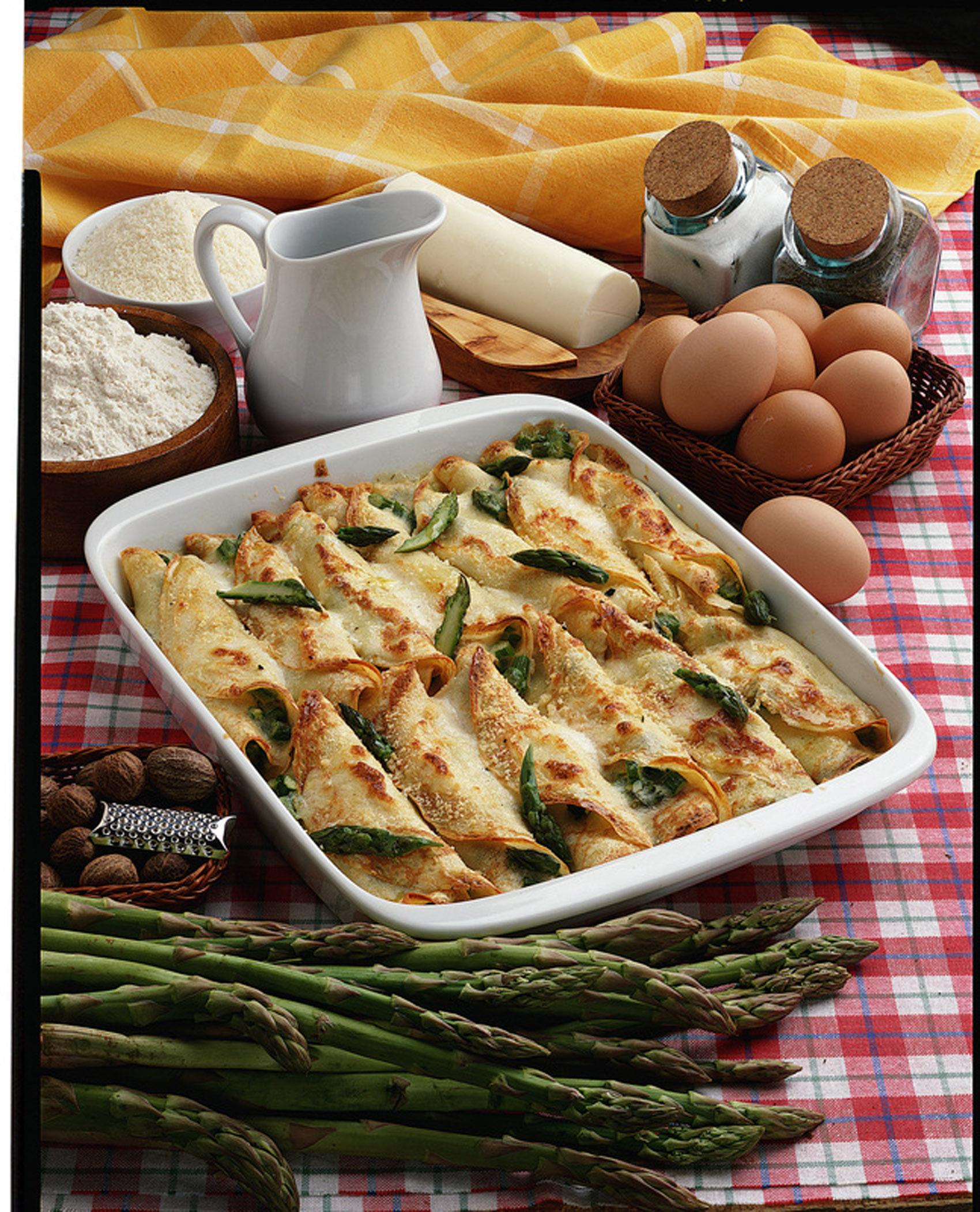 Ricetta crepes salate asparagi