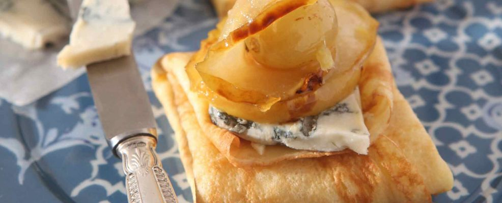 crepes al gorgonzola e mostarda di pere Sale&Pepe ricetta