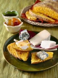 Pane di zucca con miele, mostarda e cacio